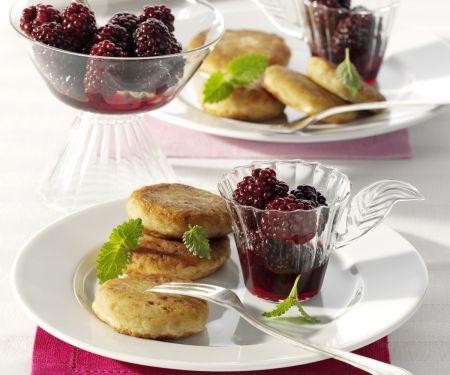 Potato Cakes with Blackberry Compote