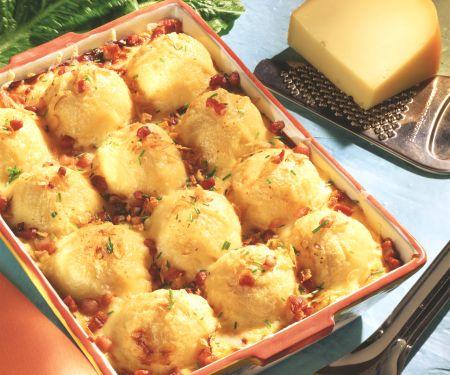 Potato Dumpling and Spinach Gratin