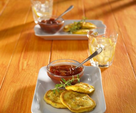 Pumpkin Fritters with Chile Sauce