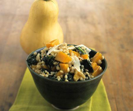 Pumpkin, Spinach and Grain Salad