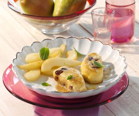 Quark Dumplings with Pears