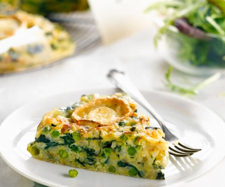Quiche with Rice and Peas
