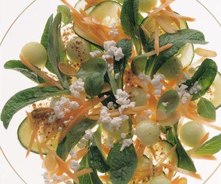 Radish, Apple and Cress Salad Wth Yogurt Dressing