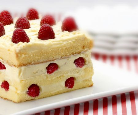Raspberry and White Chocolate Slice