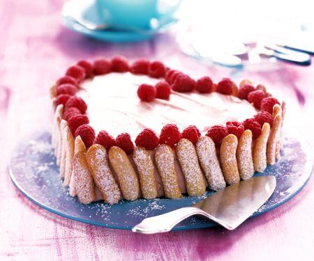 Raspberry Ladyfinger Torte