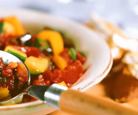 Ratatouille with Cheese Baguette