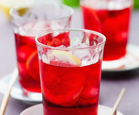 Red Hibiscus Iced Tea