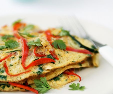 Red Pepper and Egg Pancakes