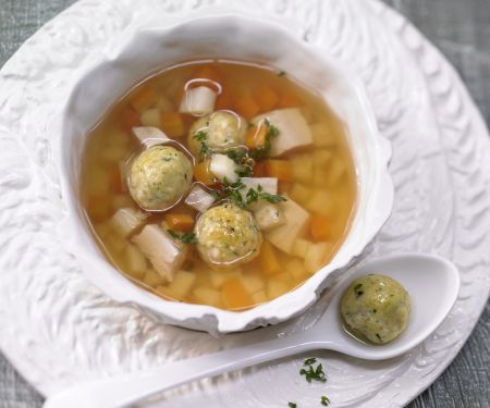 Rich Chicken Soup with Root Vegetables