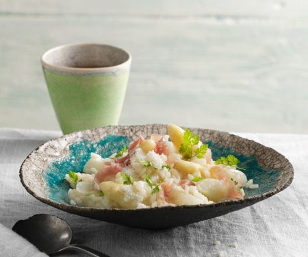 Risotto with Asparagus and Prosciutto