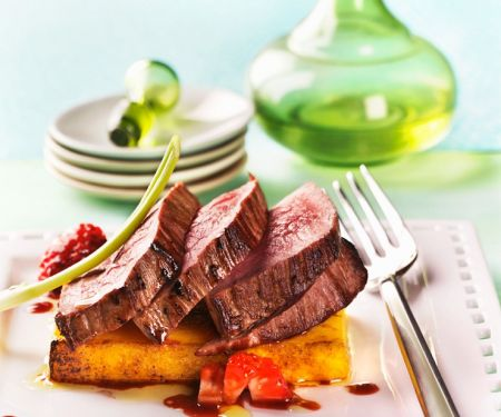 Roast Beef with Strawberry Sauce
