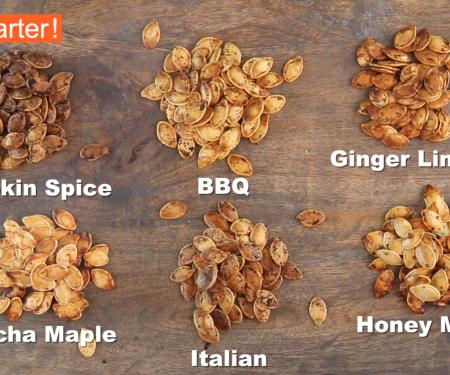 Roasted Pumpkin Seeds 6 Ways
