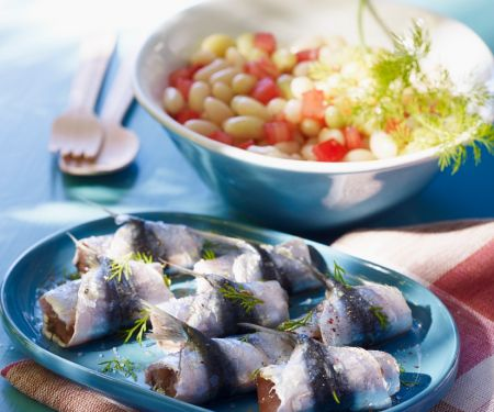 Rolled Sardine Canapés