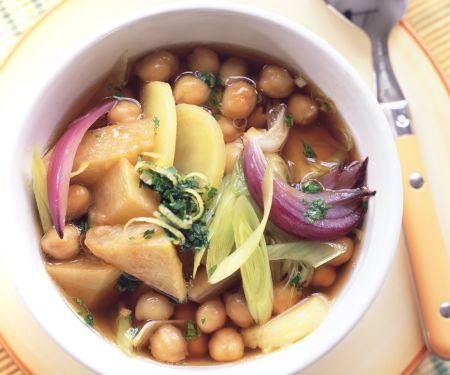 Rutabaga and Chickpea Stew with Gremolata