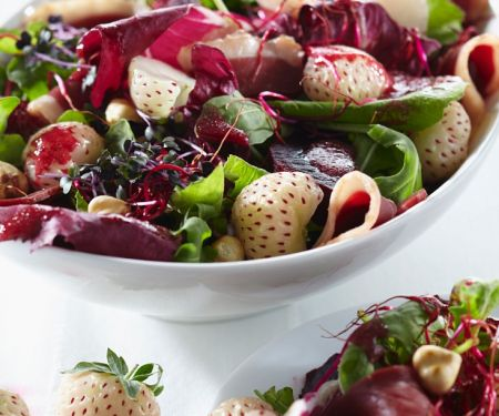 Salad with Pineapple Strawberries