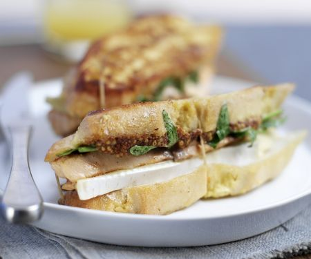Salmon and Cheese Toasted Sandwich