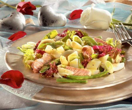 Salmon and Egg Salad Plate