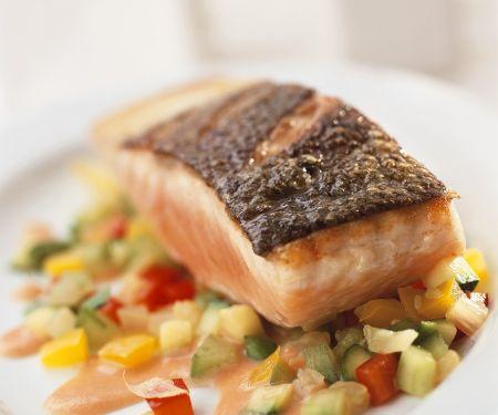 Salmon with Vegetable Sauce