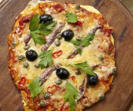 Sardine and Olive Flatbread