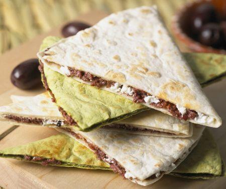 Savory Goat Cheese Quesadillas