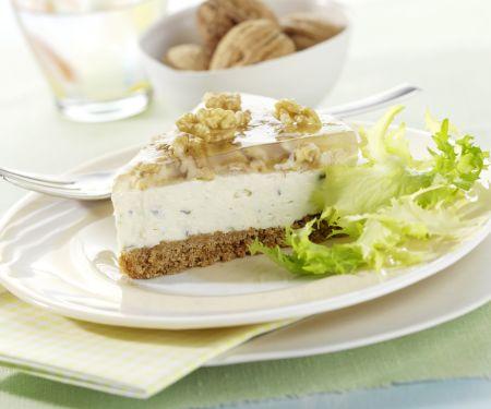 Savory Gorgonzola Cheesecake with Walnut Jelly