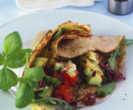 Savory Salad Crepes