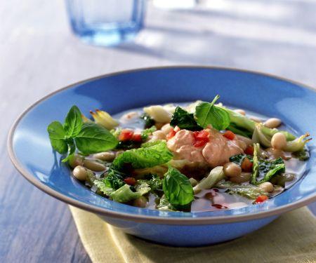 Savoy Cabbage and Bean Minestrone