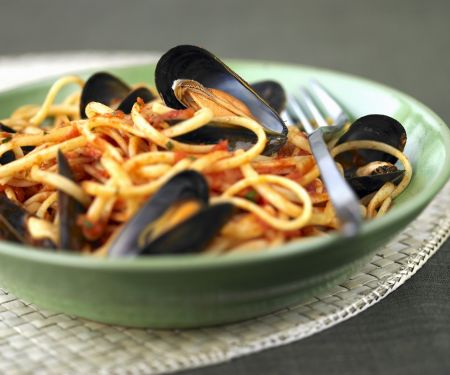 Seafood and Tomato Pasta