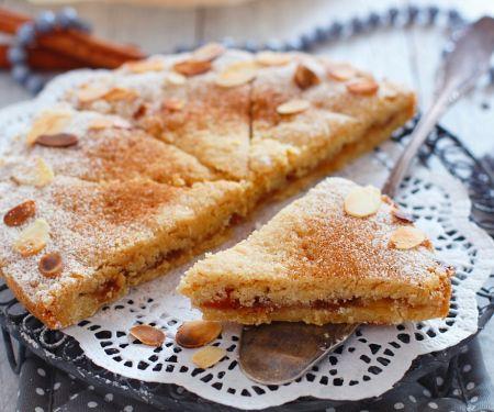 Semolina Cake with Jam and Almonds