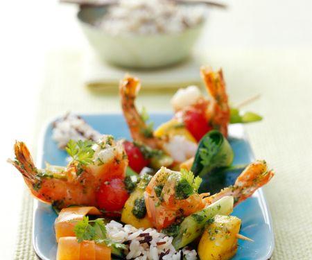 Shrimp and Mango Kebabs