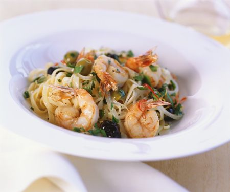 Shrimp and Olive Pasta Bowl