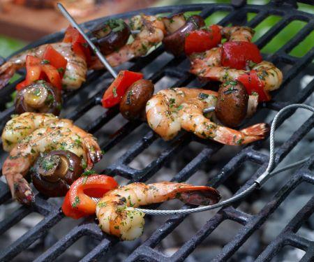 Skewered Shrimp and Vegetables