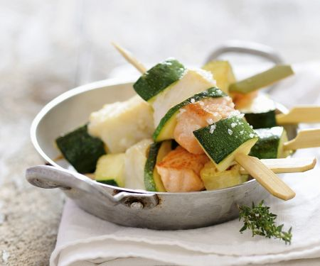 Skewers with Fish and Zucchini