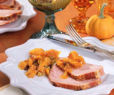 Smoked Pork Tenderloin with Pumpkin Chutney