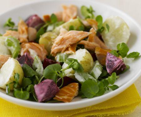Smoked Salmon Salad with Beets