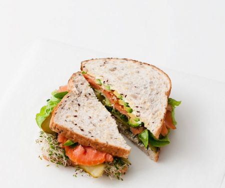 Smoked Salmon Sandwich with Sprouts