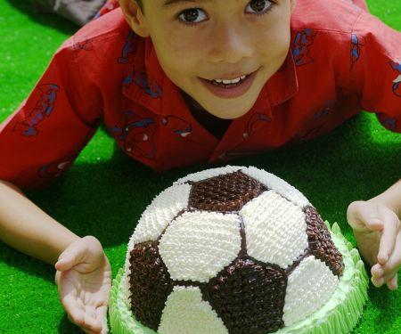 Soccer Cream Cake