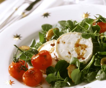 Soft Cheese Rounds with Tomatoes