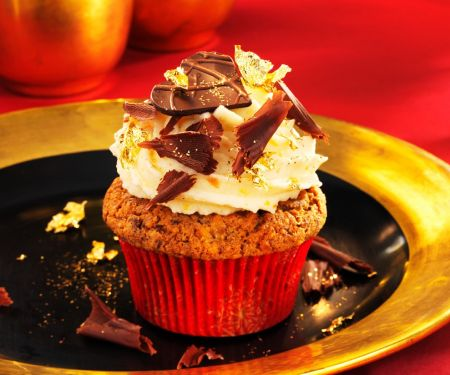 Spiced Apple Muffins with Gold Leaf