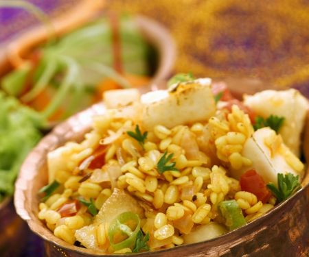 Spiced Lentils with Paneer