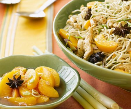 Spiced Peaches and Chicken