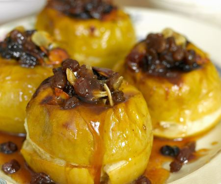 Spiced Rum and Fruit Stuffed Apples