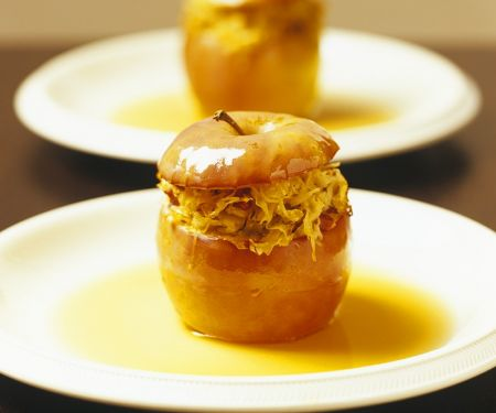Spicy Baked Apples with Sauerkraut Filling