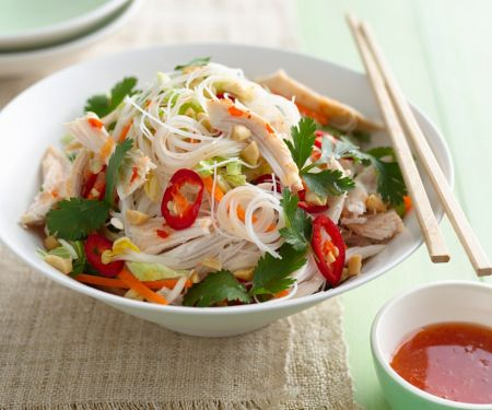 Spicy Noodles with Chicken and Coriander