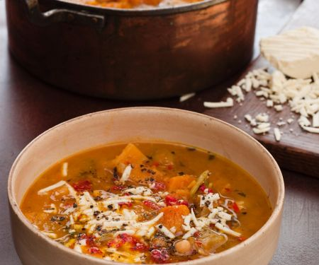Spicy Pumpkin Soup with Chickpeas