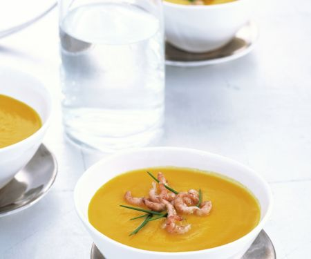 Spicy Pumpkin Soup with Crab Meat