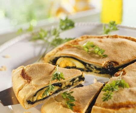 Spinach, Egg and Cheese Pie