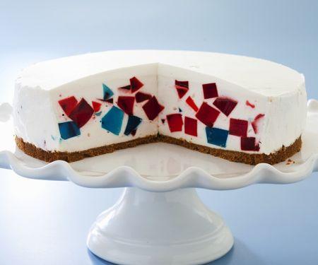 Stained Glass Gelatin Yogurt Torte