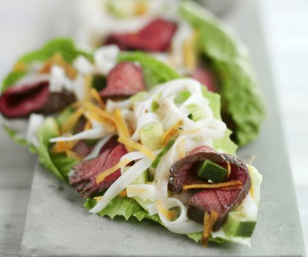 Steak and Noodle Salad Bites