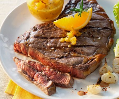 Steak with Orange and Onions